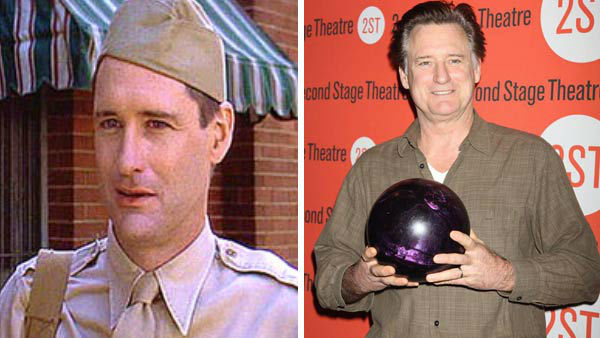 Left -- Bill Pullman appears in a still from 'A League of Their Own.' Right -- Bill Pullman appears at the Second Stage Theatre's All-Star Bowling Classic Fundraiser in New York City on Feb. 4, 2013.