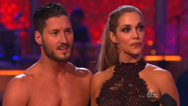 "<div class=""meta ""><span class=""caption-text "">Elizabeth Berkley and Val Chmerkovskiy danced Jazz on week eight of 'Dancing With The Stars' on Nov. 4, 2013. They received 25 out of 30 points from the judges.  (ABC Photo)</span></div>"