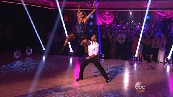 Corbin Bleu and Karina Smirnoff dance the Argentine Tango on week eight of 'Dancing With The Stars' on Nov. 4, 2013. They received 27 out of 30 points from the judges. The two received 3 extra points from the dance off.