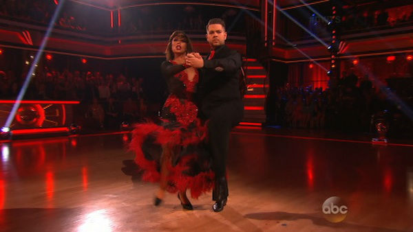 Jack Osbourne and Cheryl Burke dance the Tango on week eight of &#39;Dancing With The Stars&#39; on Nov. 4, 2013. They received 27 out of 30 points from the judges. The two received 30 out of 30 extra points from the team dance. <span class=meta>(ABC Photo)</span>