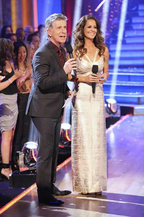 Tom Bergeron and Brooke Burke-Charvet on week eight of 'Dancing With The Stars' on Nov. 4, 2013.