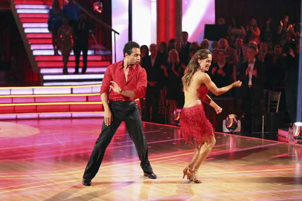"<div class=""meta image-caption""><div class=""origin-logo origin-image ""><span></span></div><span class=""caption-text"">Corbin Bleu and Karina Smirnoff appear during the dance off on week eight of 'Dancing With The Stars' on Nov. 4, 2013. (ABC Photo/ Adam Taylor)</span></div>"