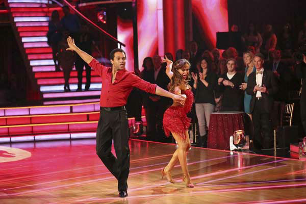 Corbin Bleu and Karina Smirnoff appear during the dance off on week eight of &#39;Dancing With The Stars&#39; on Nov. 4, 2013. <span class=meta>(ABC Photo&#47; Adam Taylor)</span>