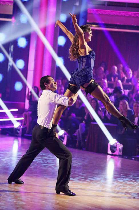 "<div class=""meta image-caption""><div class=""origin-logo origin-image ""><span></span></div><span class=""caption-text"">Corbin Bleu and Karina Smirnoff dance the Argentine Tango on week eight of 'Dancing With The Stars' on Nov. 4, 2013. They received 27 out of 30 points from the judges. The two received 3 extra points from the dance off. (ABC Photo/ Adam Taylor)</span></div>"