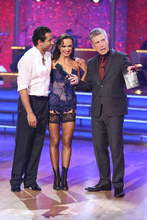 "<div class=""meta image-caption""><div class=""origin-logo origin-image ""><span></span></div><span class=""caption-text"">Corbin Bleu and Karina Smirnoff danced the Argentine Tango on week eight of 'Dancing With The Stars' on Nov. 4, 2013. They received 27 out of 30 points from the judges. The two received 3 extra points from the dance off. (ABC Photo/ Adam Taylor)</span></div>"
