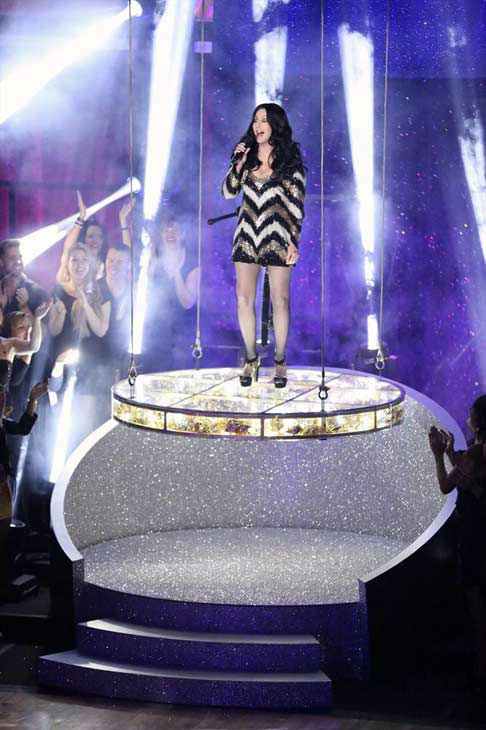 Cher performs 'Believe' on week eight of 'Dancing With The Stars' on Nov. 4, 2013.