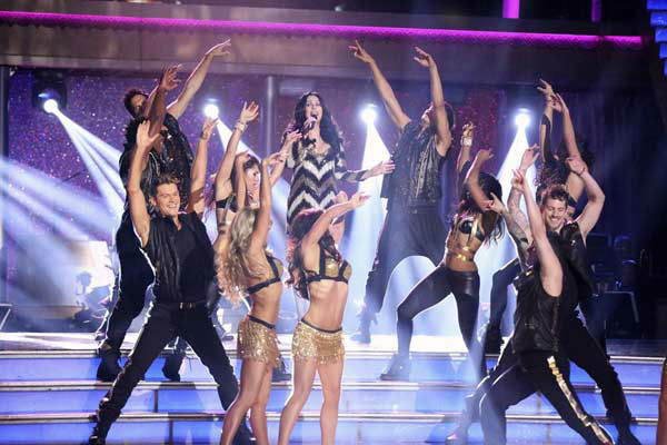 "<div class=""meta image-caption""><div class=""origin-logo origin-image ""><span></span></div><span class=""caption-text"">Cher performs 'Believe' on week eight of 'Dancing With The Stars' on Nov. 4, 2013. (ABC Photo/ Adam Taylor)</span></div>"