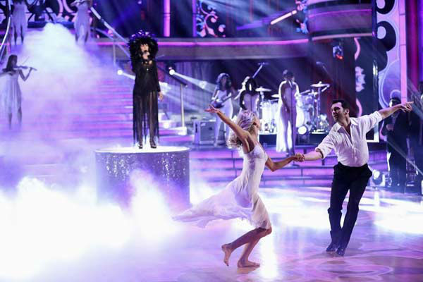 Cher performs 'I Hope You Find It' on week eight of 'Dancing With The Stars' on Nov. 4, 2013.