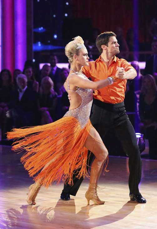 Brant Daugherty and Peta Murgatroyd appear during the dance off on week eight of &#39;Dancing With The Stars&#39; on Nov. 4, 2013. <span class=meta>(ABC Photo&#47; Adam Taylor)</span>