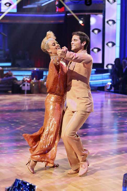 "<div class=""meta image-caption""><div class=""origin-logo origin-image ""><span></span></div><span class=""caption-text"">Brant Daugherty and Peta Murgatroyd dance the Foxtrot on week eight of 'Dancing With The Stars' on Nov. 4, 2013. They received 27 out of 30 points from the judges. (ABC Photo/ Adam Taylor)</span></div>"