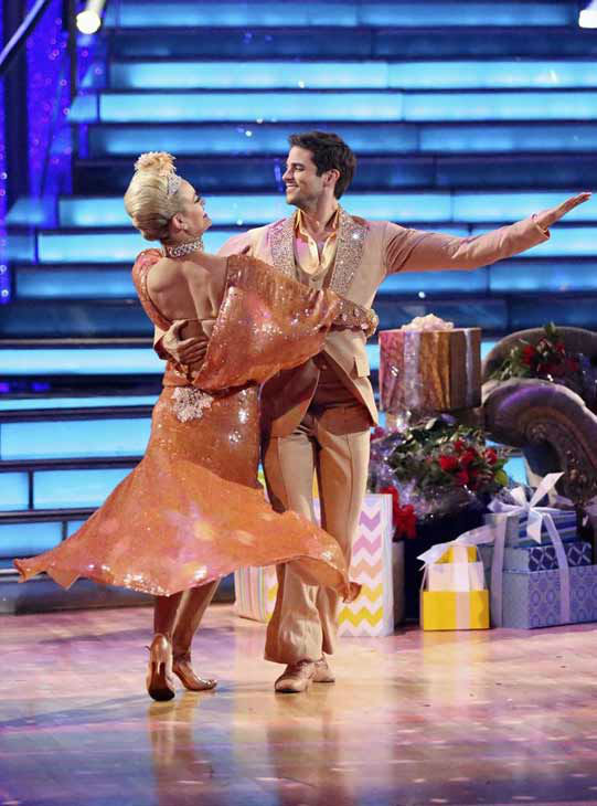 Brant Daugherty and Peta Murgatroyd dance the Foxtrot on week eight of &#39;Dancing With The Stars&#39; on Nov. 4, 2013. They received 27 out of 30 points from the judges. <span class=meta>(ABC Photo&#47; Adam Taylor)</span>
