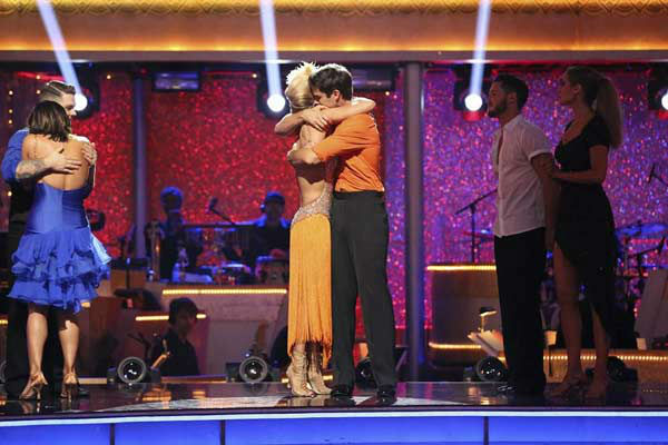 "<div class=""meta image-caption""><div class=""origin-logo origin-image ""><span></span></div><span class=""caption-text"">Brant Daugherty and Peta Murgatroyd react to being eliminated on week eight of 'Dancing With The Stars' on Nov. 4, 2013. They received 27 out of 30 points from the judges for their Foxtrot. (ABC Photo/ Adam Taylor)</span></div>"