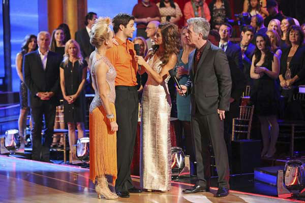 "<div class=""meta ""><span class=""caption-text "">Brant Daugherty and Peta Murgatroyd react to being eliminated on week eight of 'Dancing With The Stars' on Nov. 4, 2013. They received 27 out of 30 points from the judges for their Foxtrot. (ABC Photo/ Adam Taylor)</span></div>"