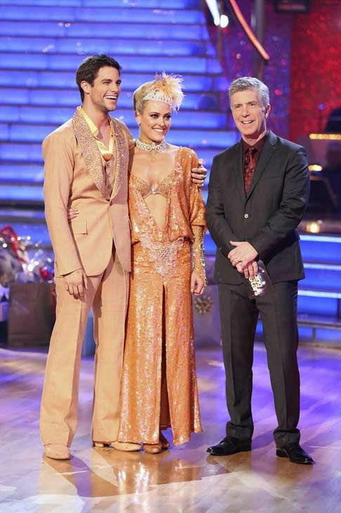 "<div class=""meta ""><span class=""caption-text "">Brant Daugherty and Peta Murgatroyd danced the Foxtrot on week eight of 'Dancing With The Stars' on Nov. 4, 2013. They received 27 out of 30 points from the judges.  (ABC Photo/ Adam Taylor)</span></div>"