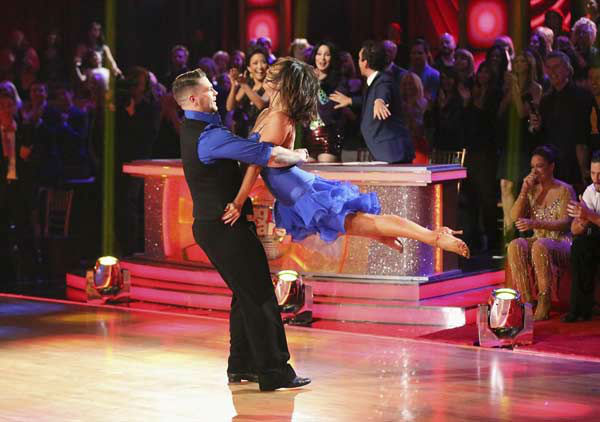 Jack Osbourne and Cheryl Burke appear during the dance off on week eight of &#39;Dancing With The Stars&#39; on Nov. 4, 2013. <span class=meta>(ABC Photo&#47; Adam Taylor)</span>