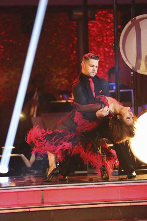 "<div class=""meta ""><span class=""caption-text "">Jack Osbourne and Cheryl Burke dance the Tango on week eight of 'Dancing With The Stars' on Nov. 4, 2013. They received 27 out of 30 points from the judges. The two received 30 out of 30 extra points from the team dance. (ABC Photo/ Adam Taylor)</span></div>"