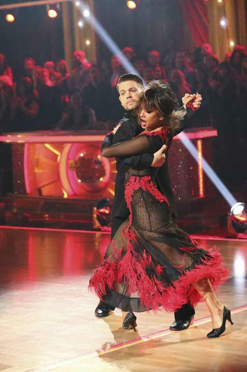 Jack Osbourne and Cheryl Burke dance the Tango on week eight of &#39;Dancing With The Stars&#39; on Nov. 4, 2013. They received 27 out of 30 points from the judges. The two received 30 out of 30 extra points from the team dance. <span class=meta>(ABC Photo&#47; Adam Taylor)</span>