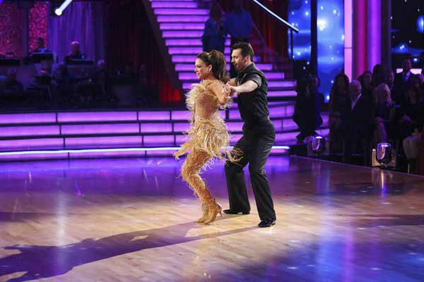 Leah Remini and Tony Dovolani appear during the dance off on week eight of &#39;Dancing With The Stars&#39; on Nov. 4, 2013. <span class=meta>(ABC Photo&#47; Adam Taylor)</span>