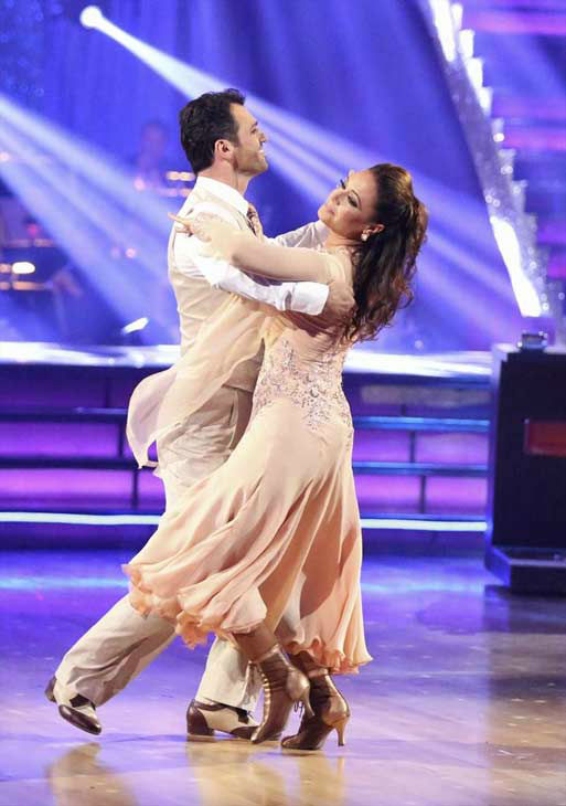 "<div class=""meta image-caption""><div class=""origin-logo origin-image ""><span></span></div><span class=""caption-text"">Leah Remini and Tony Dovolani dance the Viennese Waltz on week eight of 'Dancing With The Stars' on Nov. 4, 2013. They received 25 out of 30 points from the judges. The two received 3 extra points from the dance off. (ABC Photo/ Adam Taylor)</span></div>"