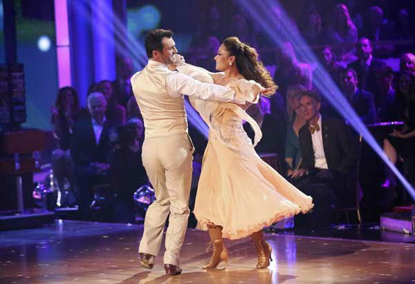 "<div class=""meta ""><span class=""caption-text "">Leah Remini and Tony Dovolani dance the Viennese Waltz on week eight of 'Dancing With The Stars' on Nov. 4, 2013. They received 25 out of 30 points from the judges. The two received 3 extra points from the dance off. (ABC Photo/ Adam Taylor)</span></div>"