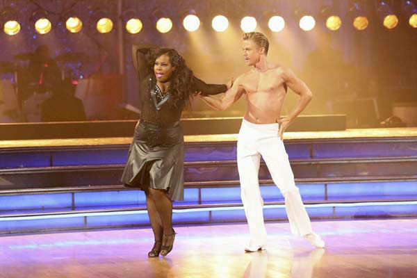 Amber Riley and Derek Hough dance the Rumba on week eight of &#39;Dancing With The Stars&#39; on Nov. 4, 2013. They received 28 out of 30 points from the judges.  <span class=meta>(ABC Photo&#47; Adam Taylor)</span>
