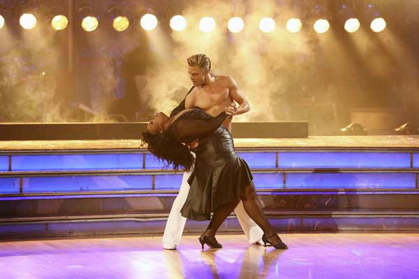 "<div class=""meta image-caption""><div class=""origin-logo origin-image ""><span></span></div><span class=""caption-text"">Amber Riley and Derek Hough dance the Rumba on week eight of 'Dancing With The Stars' on Nov. 4, 2013. They received 28 out of 30 points from the judges.  (ABC Photo/ Adam Taylor)</span></div>"