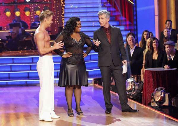 Amber Riley and Derek Hough danced the Rumba on week eight of &#39;Dancing With The Stars&#39; on Nov. 4, 2013. They received 28 out of 30 points from the judges.  <span class=meta>(ABC Photo&#47; Adam Taylor)</span>