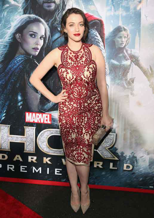 Kat Dennings appears at the 'Thor: The Dark World' premiere in Los Angeles, California on Nov. 4, 2013.