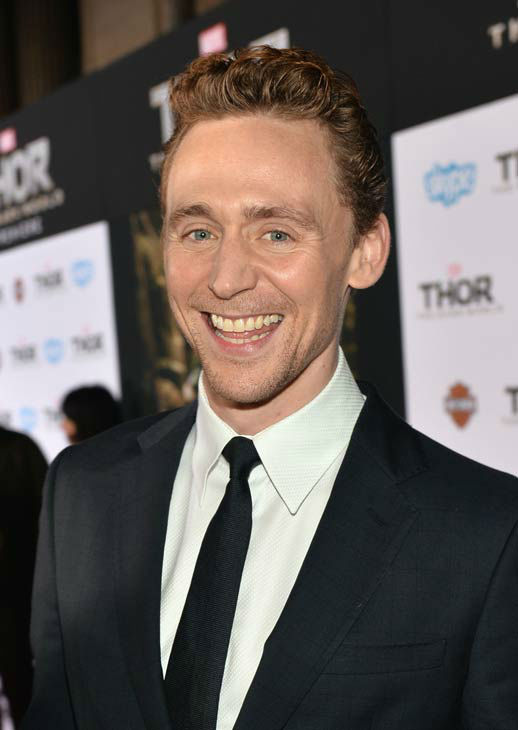 Tom Hiddleston appears at the 'Thor: The Dark World' premiere in Los Angeles, California on Nov. 4, 2013.
