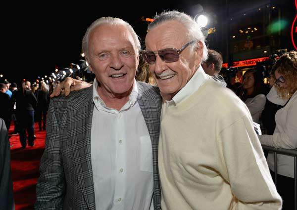 "<div class=""meta ""><span class=""caption-text "">Anthony Hopkins and Stan Lee appear at the 'Thor: The Dark World' premiere in Los Angeles, California on Nov. 4, 2013.  (Alberto E. Rodriguez / Disney)</span></div>"