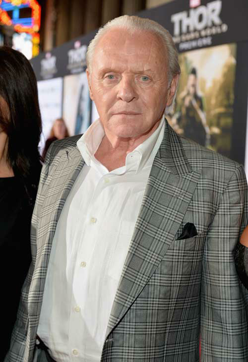 Anthony Hopkins appears at the 'Thor: The Dark World' premiere in Los Angeles, California on Nov. 4, 2013.