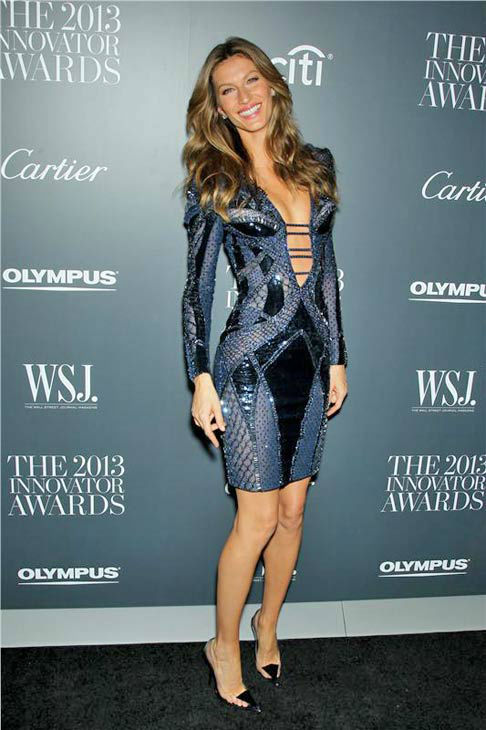 Gisele Bundchen appears at WSJ Magazine's '2013 Innovator Awards' in New York City on Nov. 6, 2013.