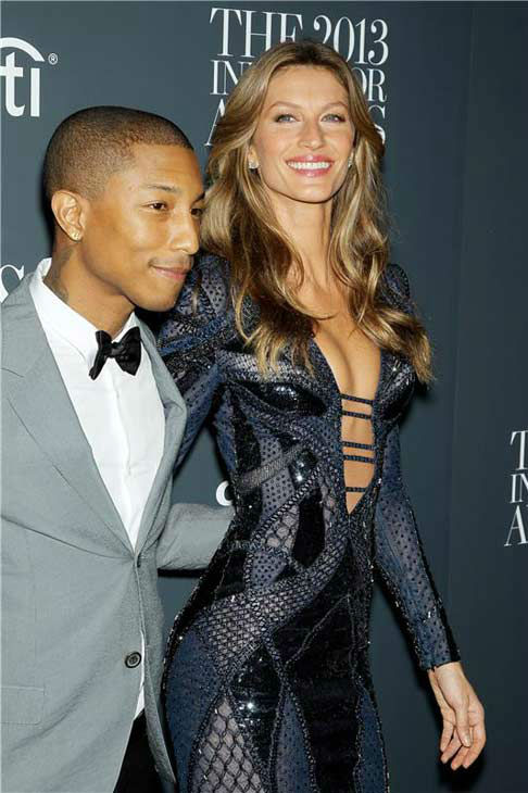 "<div class=""meta image-caption""><div class=""origin-logo origin-image ""><span></span></div><span class=""caption-text"">Gisele Bundchen and Pharrell Williams appear at WSJ Magazine's '2013 Innovator Awards' in New York City on Nov. 6, 2013. (Marion Curtis/Startraksphoto.com)</span></div>"