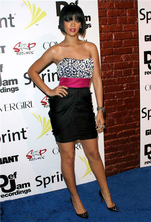 Rihanna appears at her 'Good Girl Gone Bad' CD release party in Los Angeles, California on June 3, 2007.