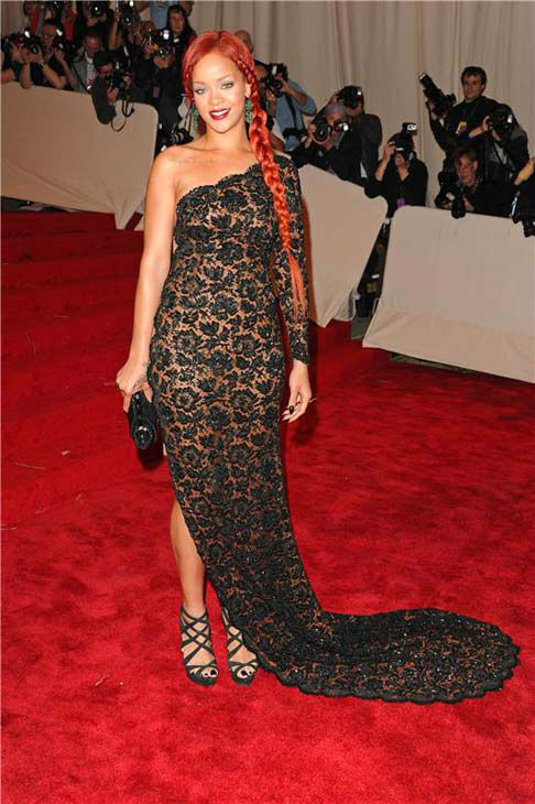 Rihanna appears at the Costume Institute Gala in New York City on May 2, 2011.