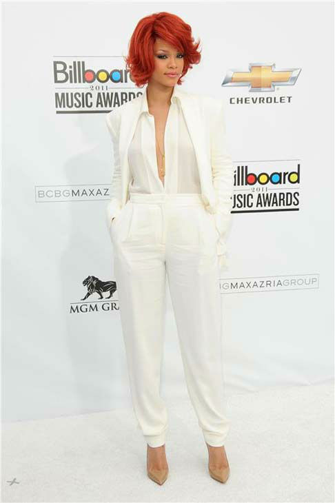 Rihanna appears at the 2011 Billboard Music Awards in Las Vegas, Nevada on May 22, 2011.
