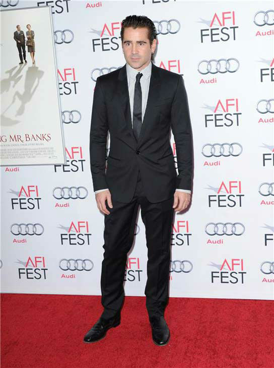 Colin Farrell appears at the 'Saving Mr. Banks' screening held at TCL Chinese Theatre in Hollywood on Nov. 07, 2013.