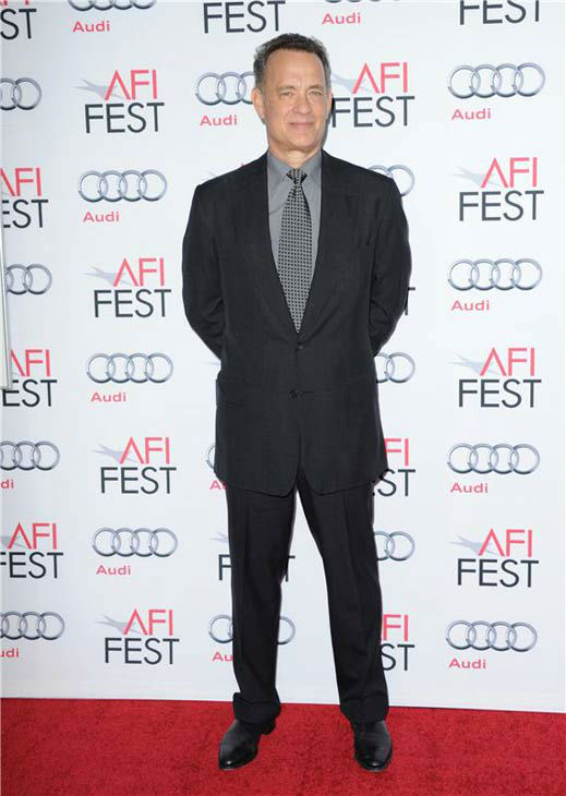 Tom Hanks appears at the 'Saving Mr. Banks' screening held at TCL Chinese Theatre in Hollywood on Nov. 07, 2013.