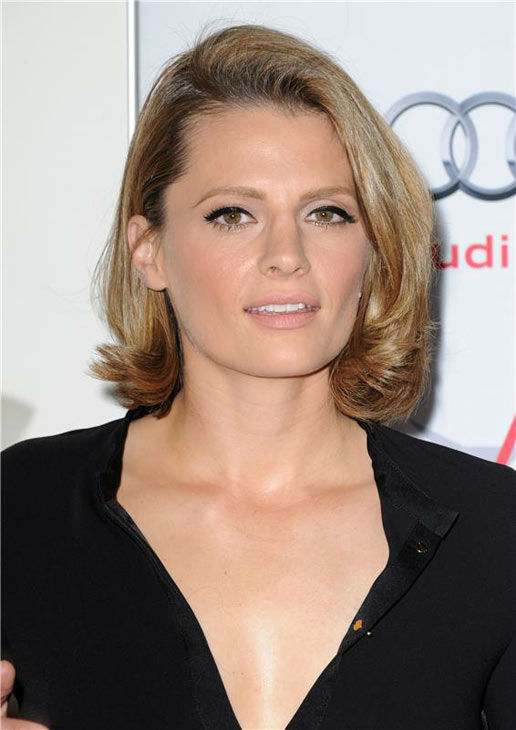Stana Katic appears at the 'Saving Mr. Banks' screening held at TCL Chinese Theatre in Hollywood on Nov. 07, 2013.