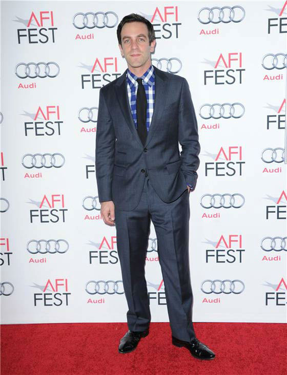 B.J. Novak appears at the 'Saving Mr. Banks' screening held at TCL Chinese Theatre in Hollywood on Nov. 07, 2013.