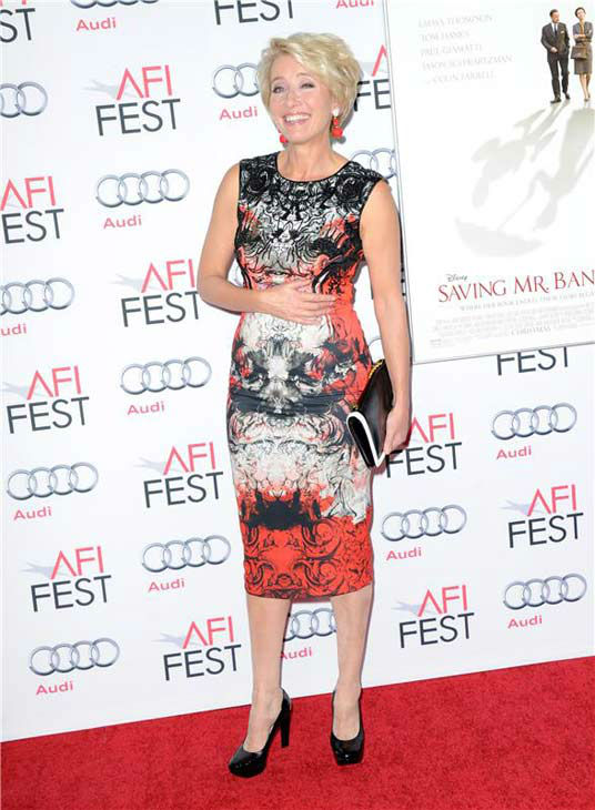 Emma Thompson appears at the 'Saving Mr. Banks' screening held at TCL Chinese Theatre in Hollywood on Nov. 07, 2013.