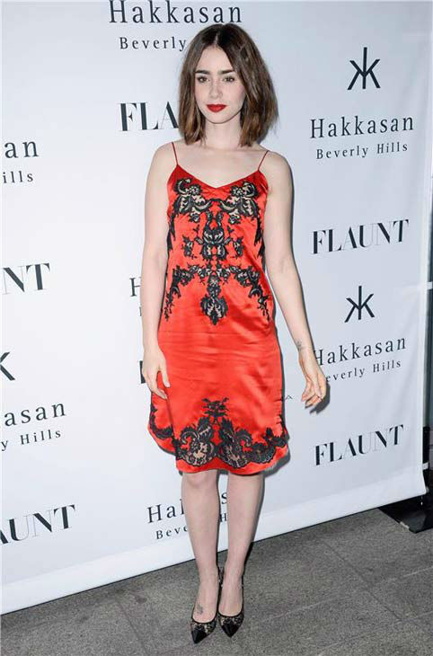 "<div class=""meta ""><span class=""caption-text "">Lily Collins appears at the Flaunt Magazine November issue party in Los Angeles on Nov. 7, 2013. (Lionel Hahn/AbacaUSA/startraksphoto.com)</span></div>"