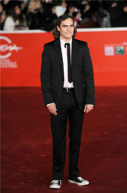 Joaquin Phoenix appears at the premiere of 'Her' at the 8th annual Rome Film Festival on Nov. 10, 2013.