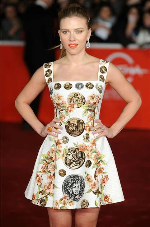 Scarlett Johansson appears at the premiere of 'Her' at the 8th annual Rome Film Festival on Nov. 10, 2013.