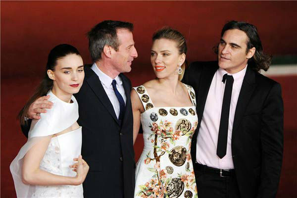 Rooney Mara, director Spike Jonze, Scarlett Johansson and Joaquin Phoenix appear at the premiere of 'Her' at the 8th annual Rome Film Festival on Nov. 10,