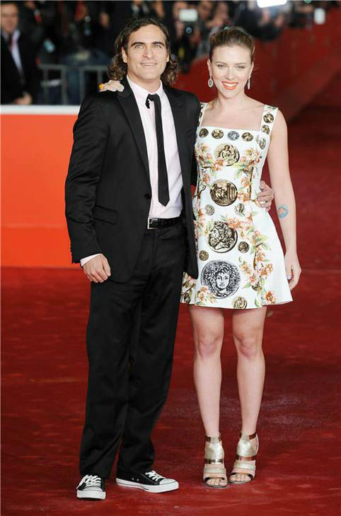 Scarlett Johansson and Joaquin Phoenix appear at the premiere of 'Her' at the 8th annual Rome Film Festival on Nov. 10, 2013.