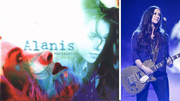 Alanis Morissette used experiences from her personal life as inspiration for her hit record &#34;Jagged Little Pill&#34; in 1995, cementing her as one of the most successful musical acts of the decade. The album would go on to sell more than 33 million units worldwide, spawning the hit singles &#39;You Oughta Know,&#39; &#39;Hand in my Pocket,&#39; &#39;Ironic&#39; and &#39;You Learn.&#39; Morissette followed the success of the CD with 1998&#39;s &#39;Supposed Former Infatuation Junkie.&#34;   Following her reign in the 1990s, Morissette released several more albums, as well as dabbling in acting, with roles in films such as &#39;Dogma&#39; and television shows such as &#39;Nip&#47;Tuck&#39; and &#39;Weeds.&#39; In 2012, Morissette released the album &#39;Havoc and Bright Lights.&#39;  The singer was once linked to actor Ryan Reynolds romantically before tying the knot with her husband, musician Mario &#39;MC Souleye&#39; Treadway in 2010. The couple welcomed their first child together, Ever Imre Morissette-Treadway, in December 2010.   &#40;Pictured: Left -- Alanis Morissette appears on the cover of her album &#39;Jagged Little Pill,&#39; released on June 13, 1995. Right -- Alanis Morissette appears on the German TV show &#39;Verstehen Sie Spass?&#39; on Nov. 24, 2012.&#41;  <span class=meta>(Maverick &#47; Reprise Records &#47; Jorg Eberl &#47; startraksphoto.com)</span>