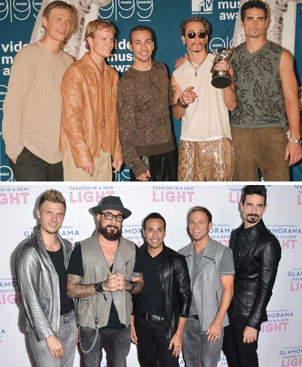 Backstreet Boys became one of the most successful boy bands of all time after they emerged onto the scene in the 1990s. The group, consisting of Brian Littrell, A.J. McLean, Howie Dorough, Nick Carter and Kevin Richardson, released three albums in the 1990s, &#39;Backstreet Boys,&#39; &#39;Backstreet&#39;s Back&#39; and &#39;Millennium,&#39; all to the adoration of fans across the world with songs like &#39;Quit Playing Games With My Heart,&#39; &#39;Everybody &#40;Backstreet&#39;s Back&#41;,&#39; &#39;As Long As You Love Me&#39; and &#39;I Want It That Way.&#39;  The group went on a hiatus in 2002 after expressing desire to leave their management and infighting within the group. They reunited in 2005 to release their first comeback album, &#39;Never Gone.&#39; In 2006, Richardson left the group to pursue other interests and the remaining members would go on to release the albums &#39;Unbreakable&#39; and &#39;This Is Us&#39; without him.   In 2011, the group experienced another career resurgence, teaming up with fellow boy band New Kids on the Block for a joint headlining tour. In 2012, Richardson rejoined the group permanently and appeared on the group&#39;s 2013 album &#39;In A World Like This,&#39; released the same year the group celebrated their 20th anniversary.   &#40;Pictured: Left -- Backstreet Boys appear at the 1999 MTV Video Music Awards in New York City on Sept. 9, 1999. Right -- Backstreet Boys appear at the Macy&#39;s Passport Presents Glamorama 2013 event in Los Angeles, California on Sept. 12, 2013.&#41;  <span class=meta>(Startraks &#47; Tony Dimaio &#47; startraksphoto.com)</span>