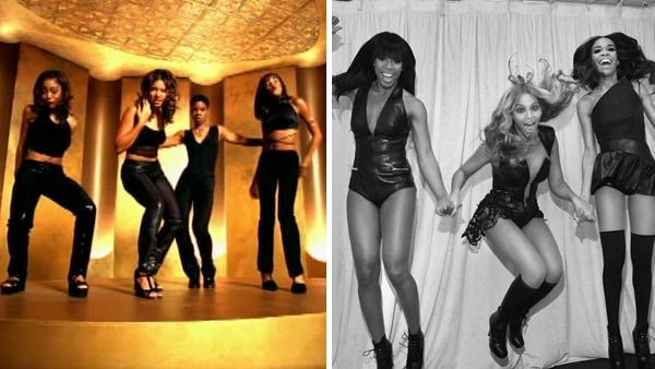 Destiny&#39;s Child was formed in Houston, Texas, consisting of Beyonce Knowles, Kelly Rowland, LaTavia Roberson and LeToya Luckett. The group rose to fame with their self-titled debut album and its follow up, 1999&#39;s &#39;The Writing&#39;s on the Wall,&#39; which featured the singles &#39;Bills, Bills, Bills,&#39; &#39;Say My Name&#39; and &#39;Jumpin&#39; Jumpin&#39;.&#39; By early 2000, Luckett and Roberson departed the group amidst infighting, and were replaced by Farrah Franklin, whose stint in the group lasted only five months, and Michelle Williams.   With their new trio lineup, Destiny&#39;s Child released the single &#39;Independent Women Part I&#39; on the &#39;Charlie&#39;s Angels&#39; film soundtrack, resulting in their longest-running No. 1 single of their career. Their subsequent albums, 2001&#39;s &#39;Survivor&#39; and 2004&#39;s &#39;Destiny Fulfilled&#39; yielded several hit singles and countless accolades, cementing their status as one of the most successful female groups of all-time. The group ultimately disbanded after &#39;Destiny Fulfilled,&#39; to focus on their various solo careers.   Lead singer Beyonce has gone onto become one of the most successful solo artists in the world, releasing four hit studio albums, countless No. 1 singles and has starred in the films &#39;Dreamgirls&#39; and &#39;Cadillac Records.&#39; Rowland has also found success as a solo artist and currently served as a judge on FOX&#39;s &#39;The X Factor&#39;s 2013 season. Williams has also released several gospel albums, as well as toured the country in numerous stage productions. In February 2013, the trio reunited during Beyonce&#39;s Super Bowl XLVII performance, to perform a medley of songs including &#39;Bootylicious,&#39; &#39;Independent Women&#39; and Beyonce&#39;s hit &#39;Single Ladies.&#39; Despite high praise and demand from fans, the group does not plan to reunite for any future recordings.   &#40;Pictured: Left -- Destiny&#39;s Child appears in the music video for the song &#39;No, No, No.&#39; Right -- Destiny&#39;s Child appears in a photo posted on Beyonce&#39;s Instagram page on Feb. 3, 2013.&#41;  <span class=meta>(Columbia Records &#47; instagram.com&#47;beyonce &#47; instagram.com&#47;p&#47;VTDMTRPw-F&#47;)</span>