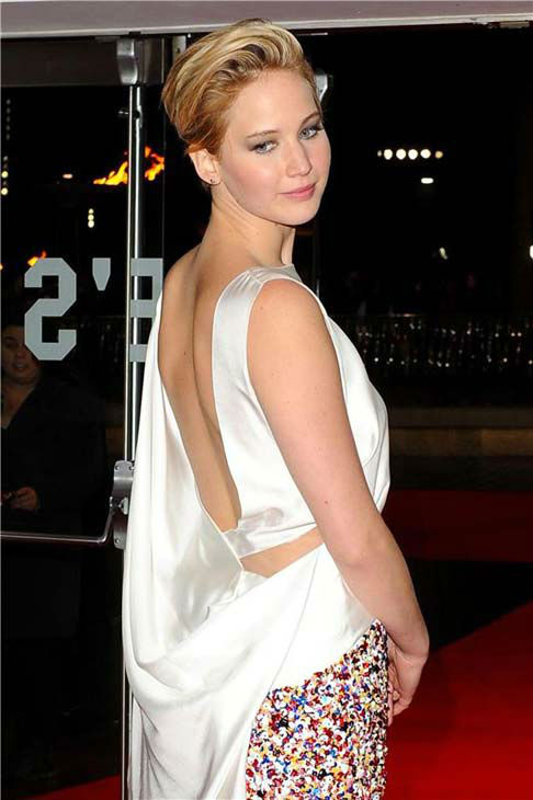 Jennifer Lawrence appears at 'The Hunger Games: Catching Fire' U.K. premiere on Nov. 11, 2013.